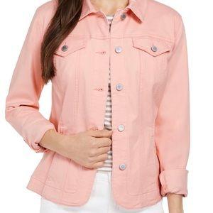 Chart Club Denim jacket, cotton elastane, unlined